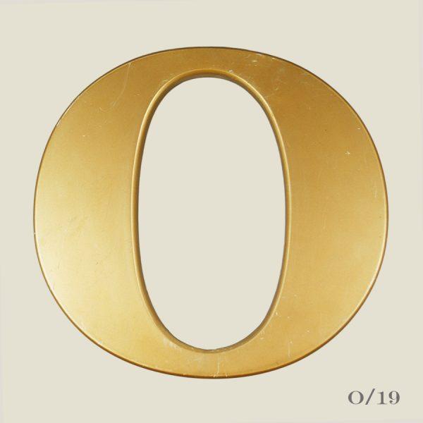 vintage gold letter O