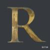 Vintage, Distressed, Gold, Gilt, Letter, R,