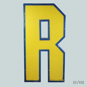 vintage letter R light blockbuster