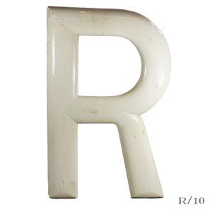 large vintage fairground letter R