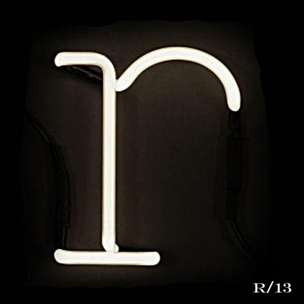 neon R letter light seletti
