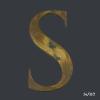 Vintage, Distressed, Gold, Gilt, Letter, S,