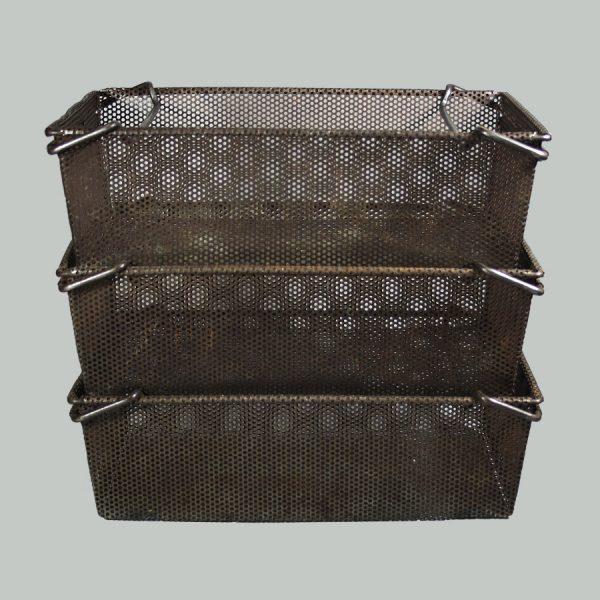 Vintage Steel Mesh Basket Storage