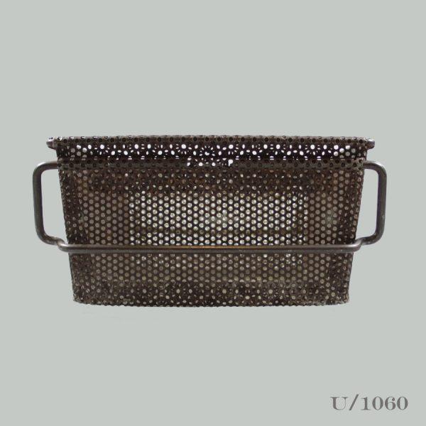 Vintage Industrial Steel Mesh Basket Storage