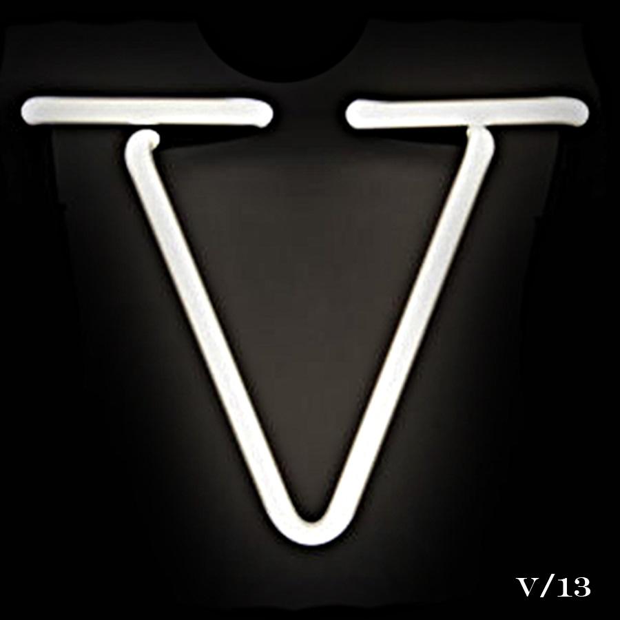 neon letter V light