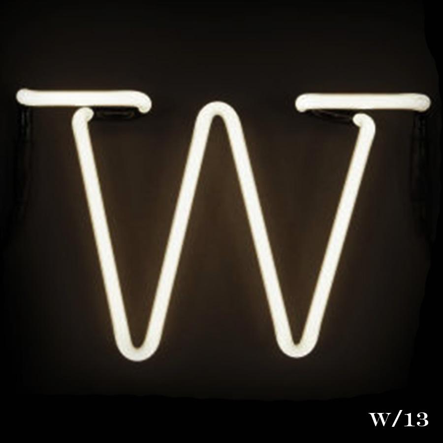 neon letter W light