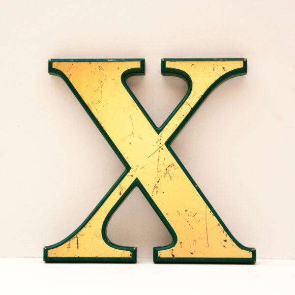 Reclaimed Gold Resin Letter X