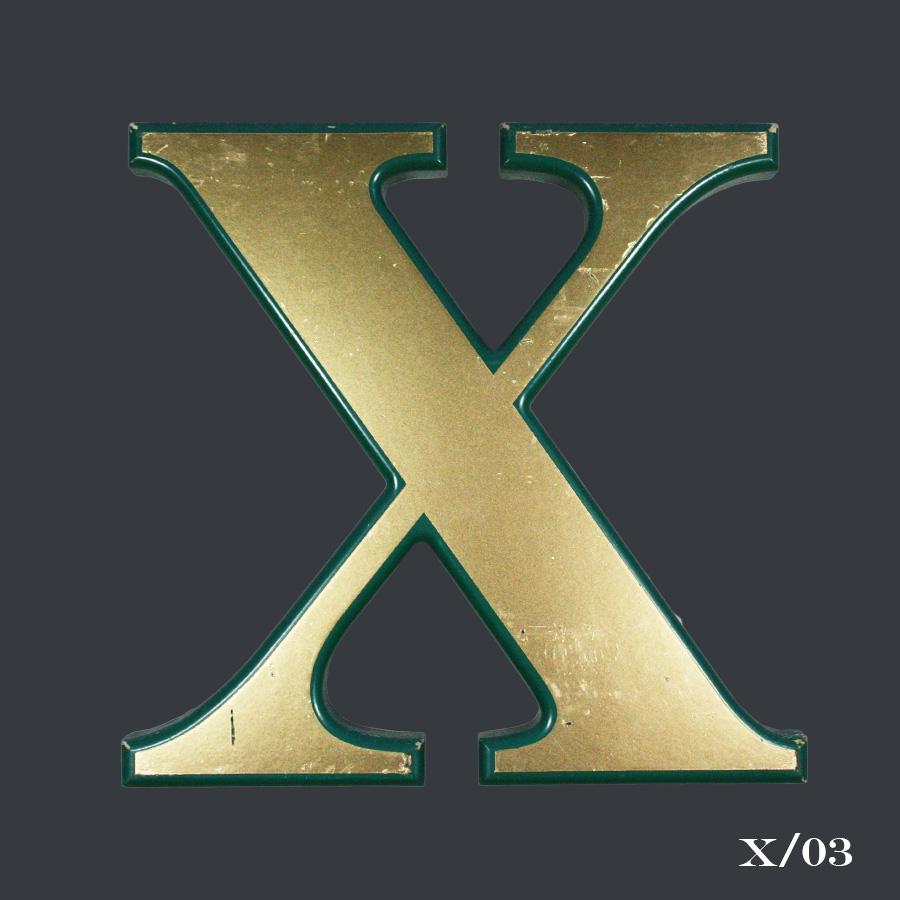 vintage gold letter X
