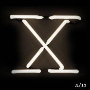 neon X letter light seletti