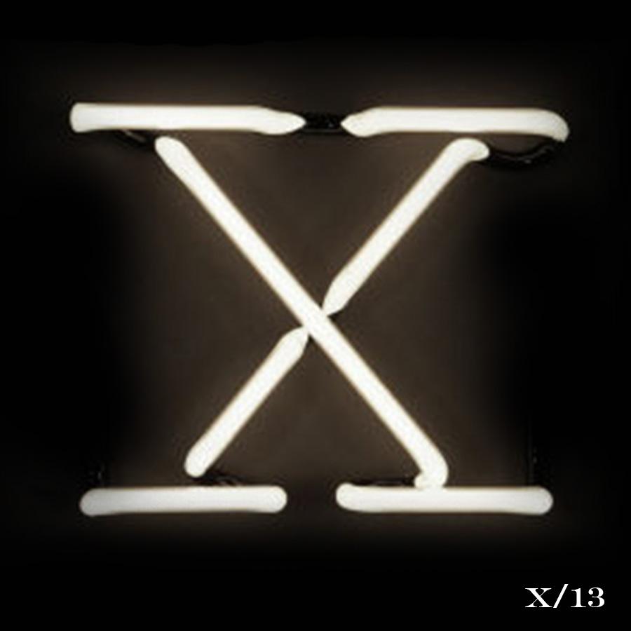 neon letter X light