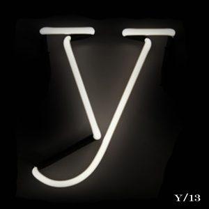 neon Y letter light seletti