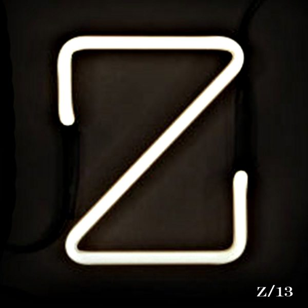 neon Z letter light seletti