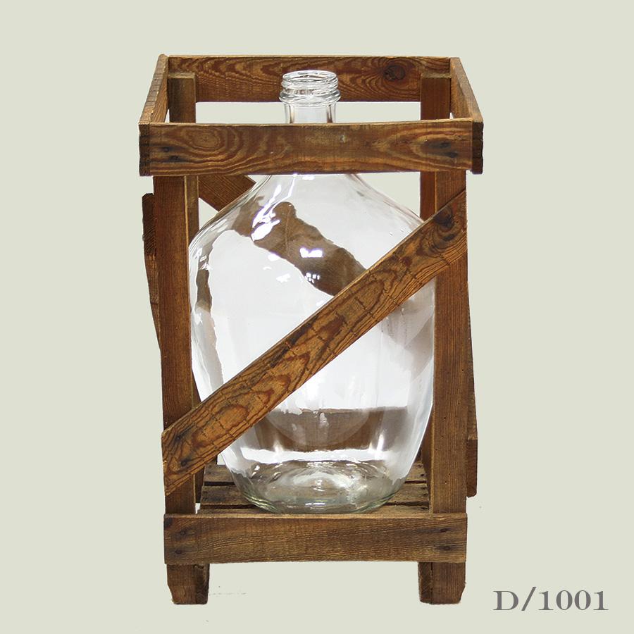 vintage clear glass carboy demijohn