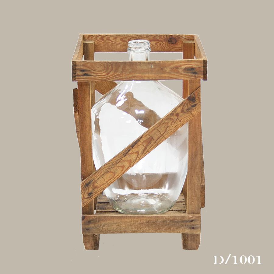 vintage clear glass wine bottle carboy demijohn