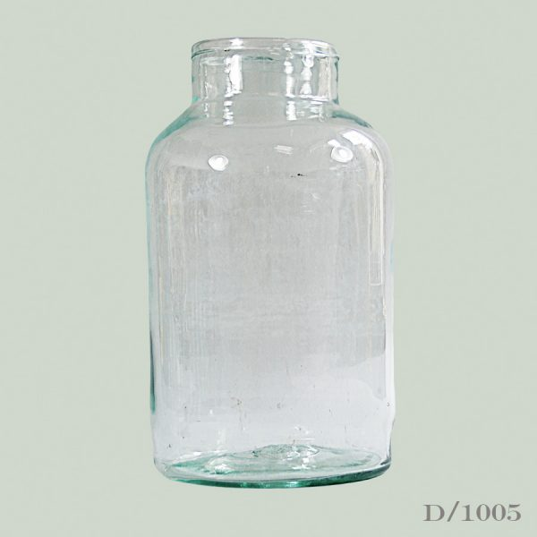 Vintage glass pickling jar