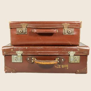 vintage leather suitcase luggage