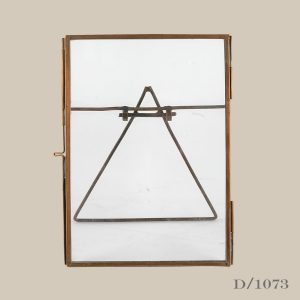 large standing copper frame glass