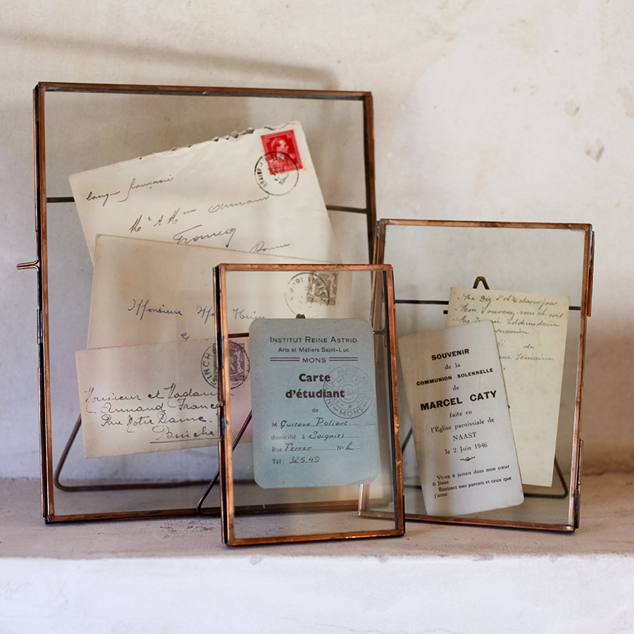 Aged Copper Photograph Frame