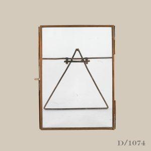 medium standing copper frame glass
