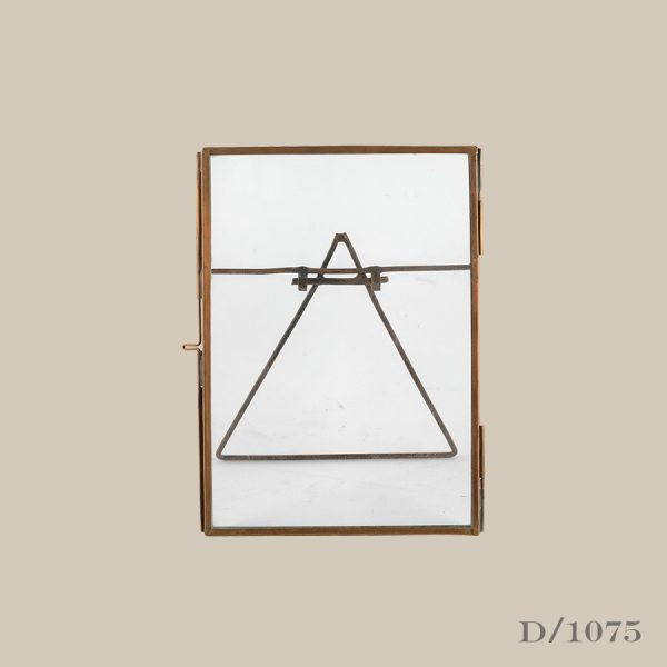 small standing copper frame glass