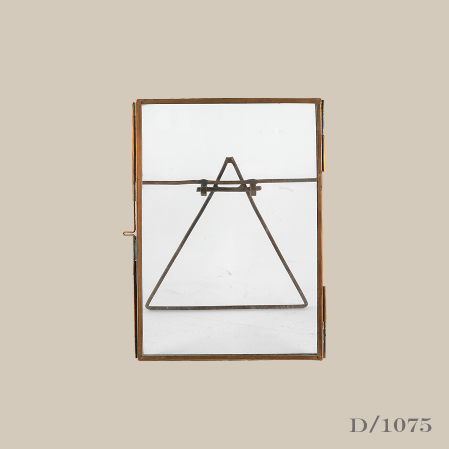 copper & glass standing photo frame