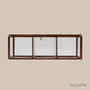 glass and copper divider keepsake box