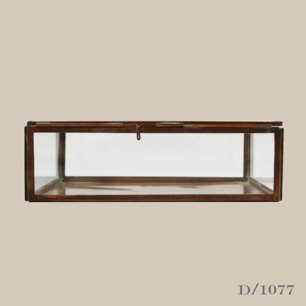 glass and copper storage keepsake box