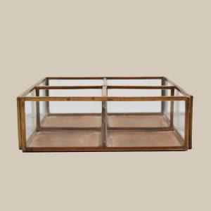 copper open divider keepsake box