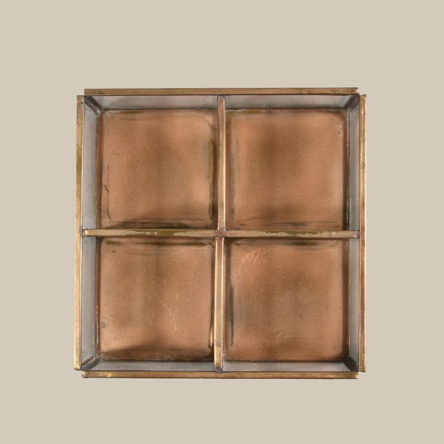 copper open divider storage keepsake box