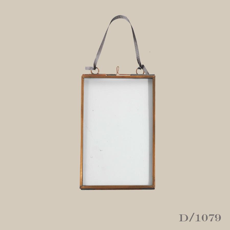 copper & glass photo frame 5 x 7