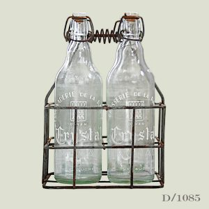 vintage lemonade bottles in crate french