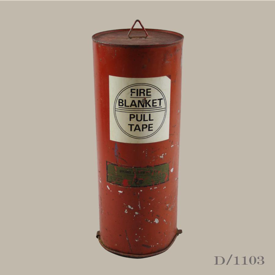 vintage fire blanket canister