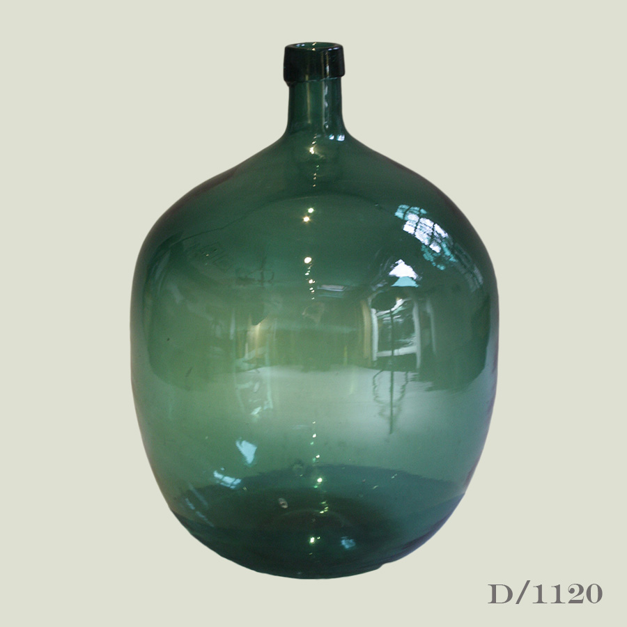 Vintage green glass demijohn vintage matters for Green glass wine bottles