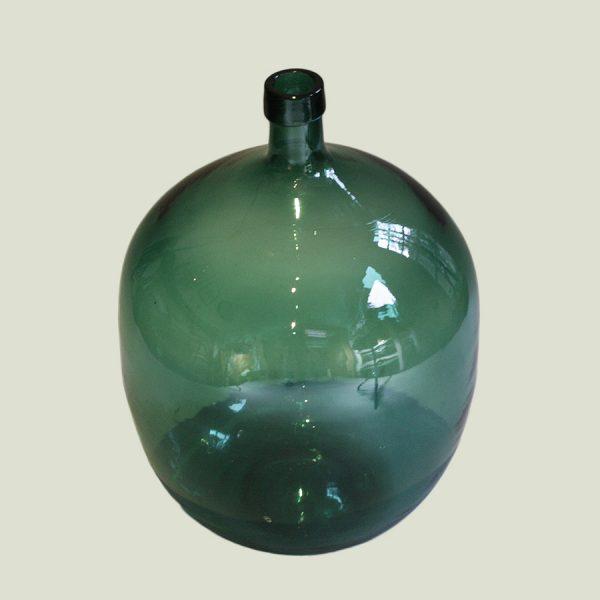 Vintage Oversized Green Glass Demijohn
