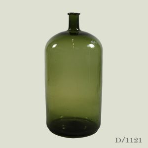 Vintage Oversized Green Glass Bottle