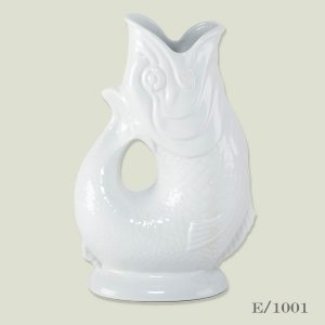 ceramic white gluggle jug Wade