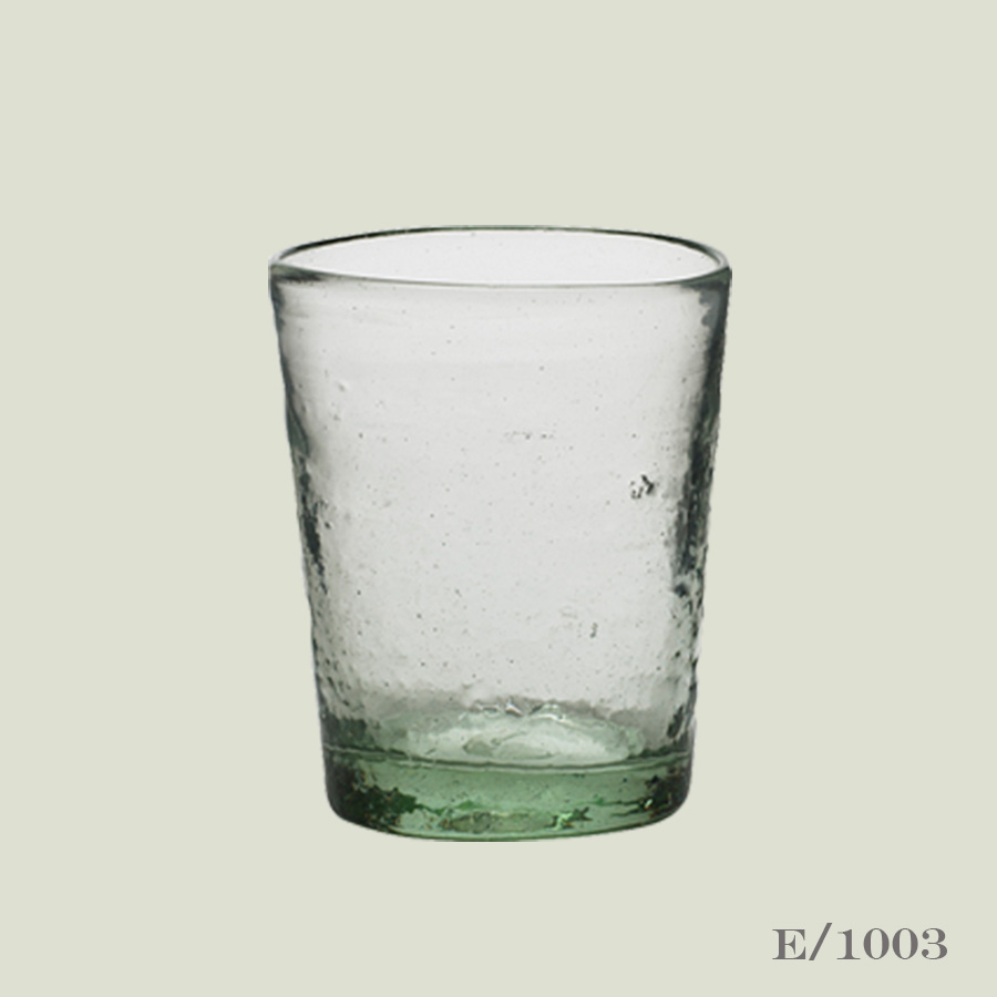 recycled green glass tumblers