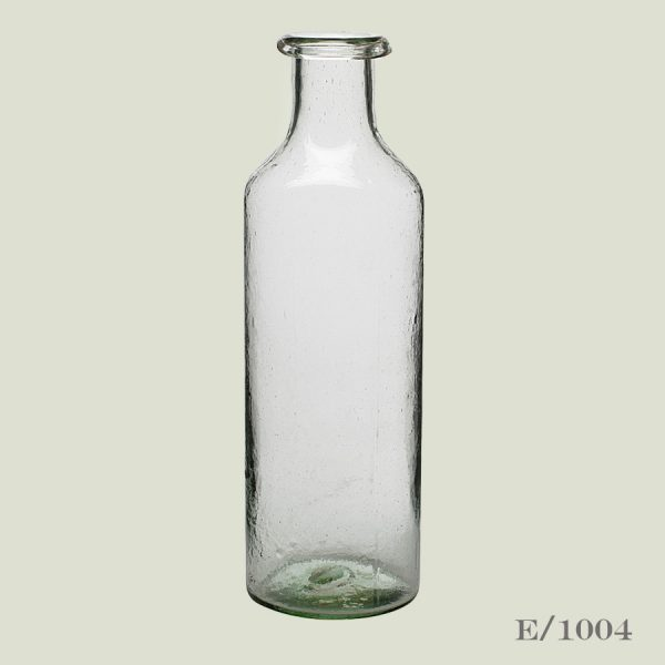 Large Recycled Green Glass Bottle
