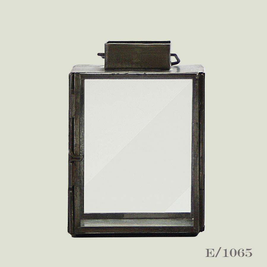 aged zinc tealight lantern