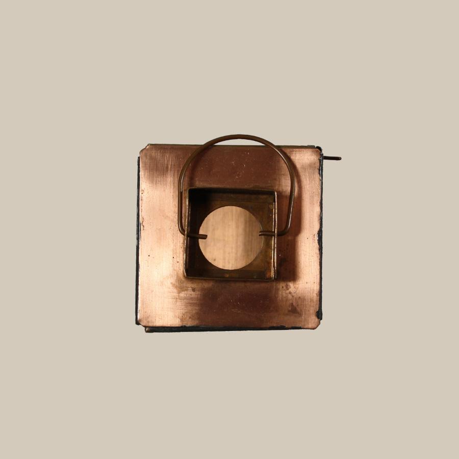 copper lantern tealight candle holder
