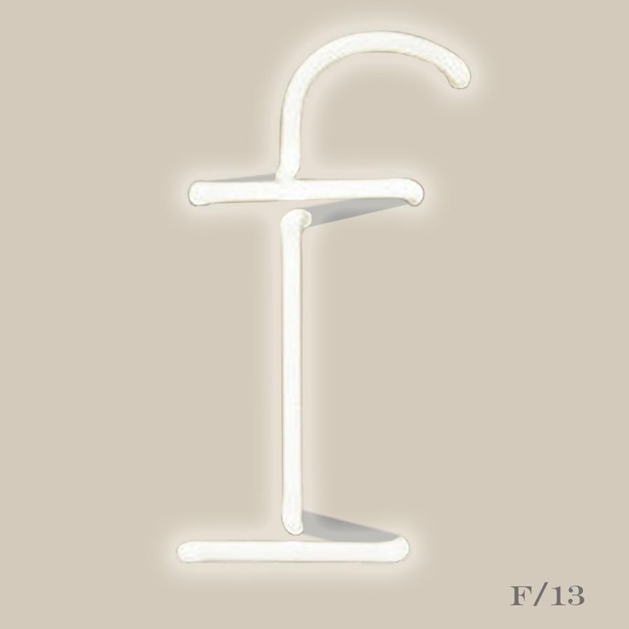 neon letter light initial f seletti