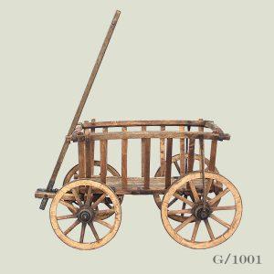 vintage antique wooden hand cart