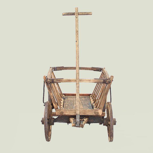 antique vintage wooden hand cart