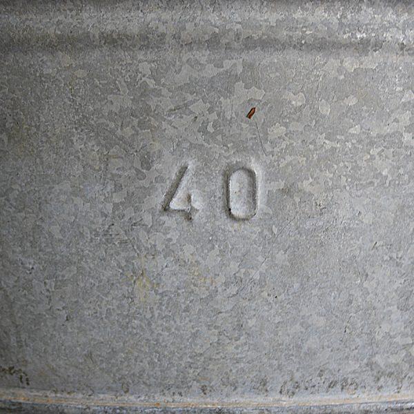 vintage galvanised zinc oval planter storage