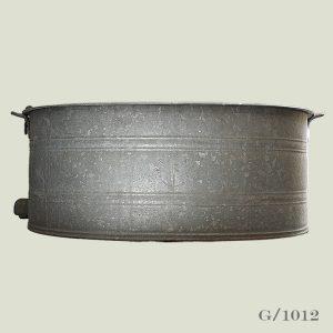 galvanised extra large oval vintage zinc planter storeage