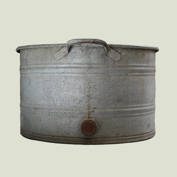 extra large oval vintage zinc planter storage