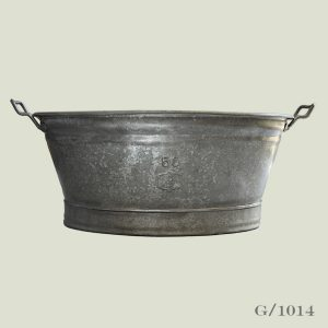oval vintage zinc planter storage