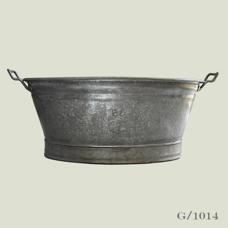 Oval Vintage Zinc Planter Vintage Matters