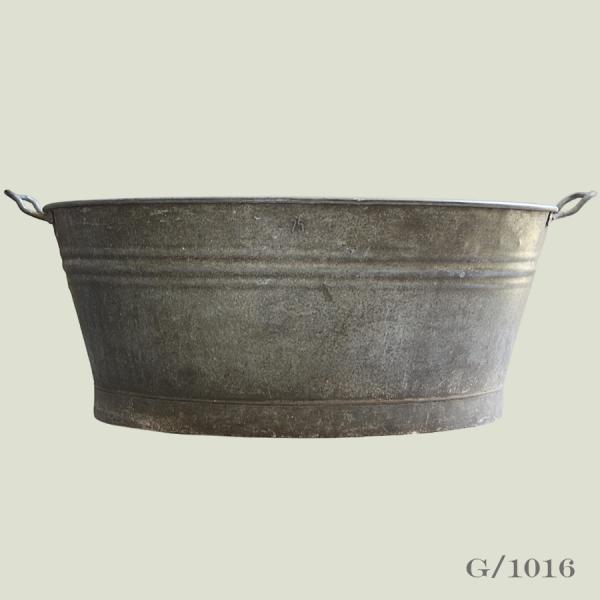 oval vintage zinc planter galvanised storage