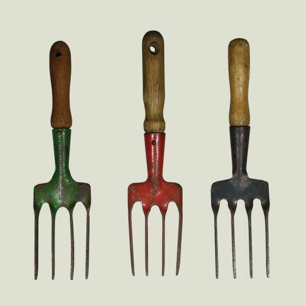 vintage garden hand fork